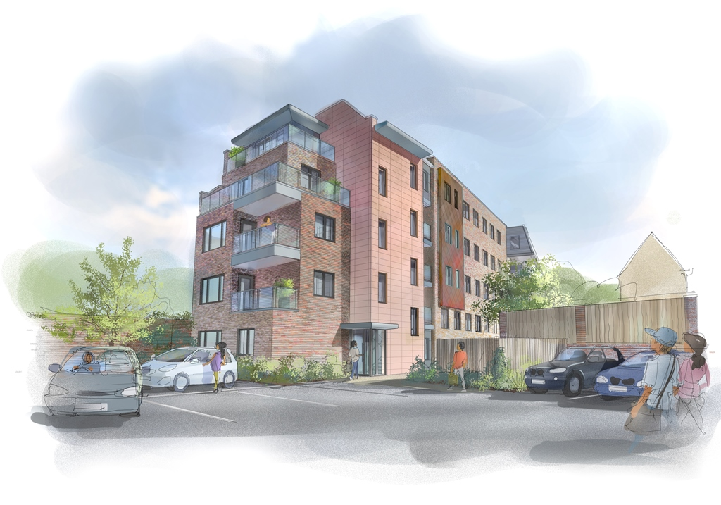 Permission Received for 5no. Flats, Leatherhead